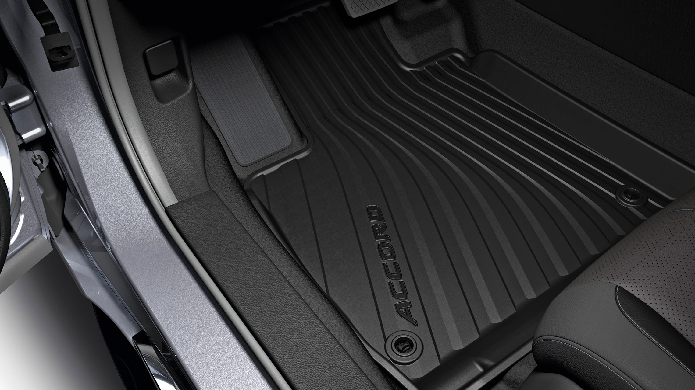 All-season floor mat accessory detail in the 2020 Honda Accord.