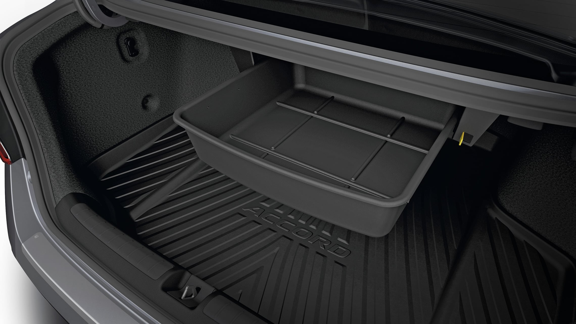 Trunk drawer accessory detail on the 2020 Honda Accord.