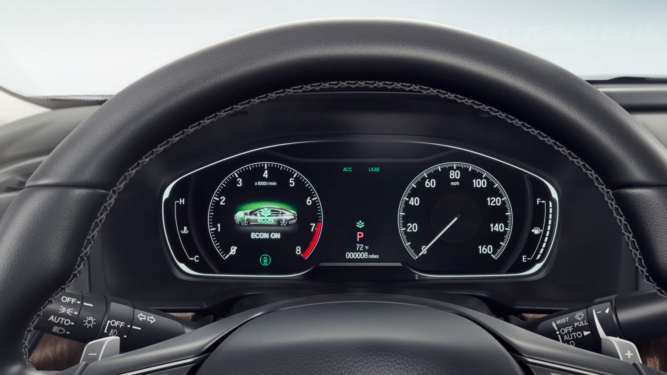 Full-color 7-inch Driver Information Interface detail in the 2020 Honda Accord Touring 2.0T.
