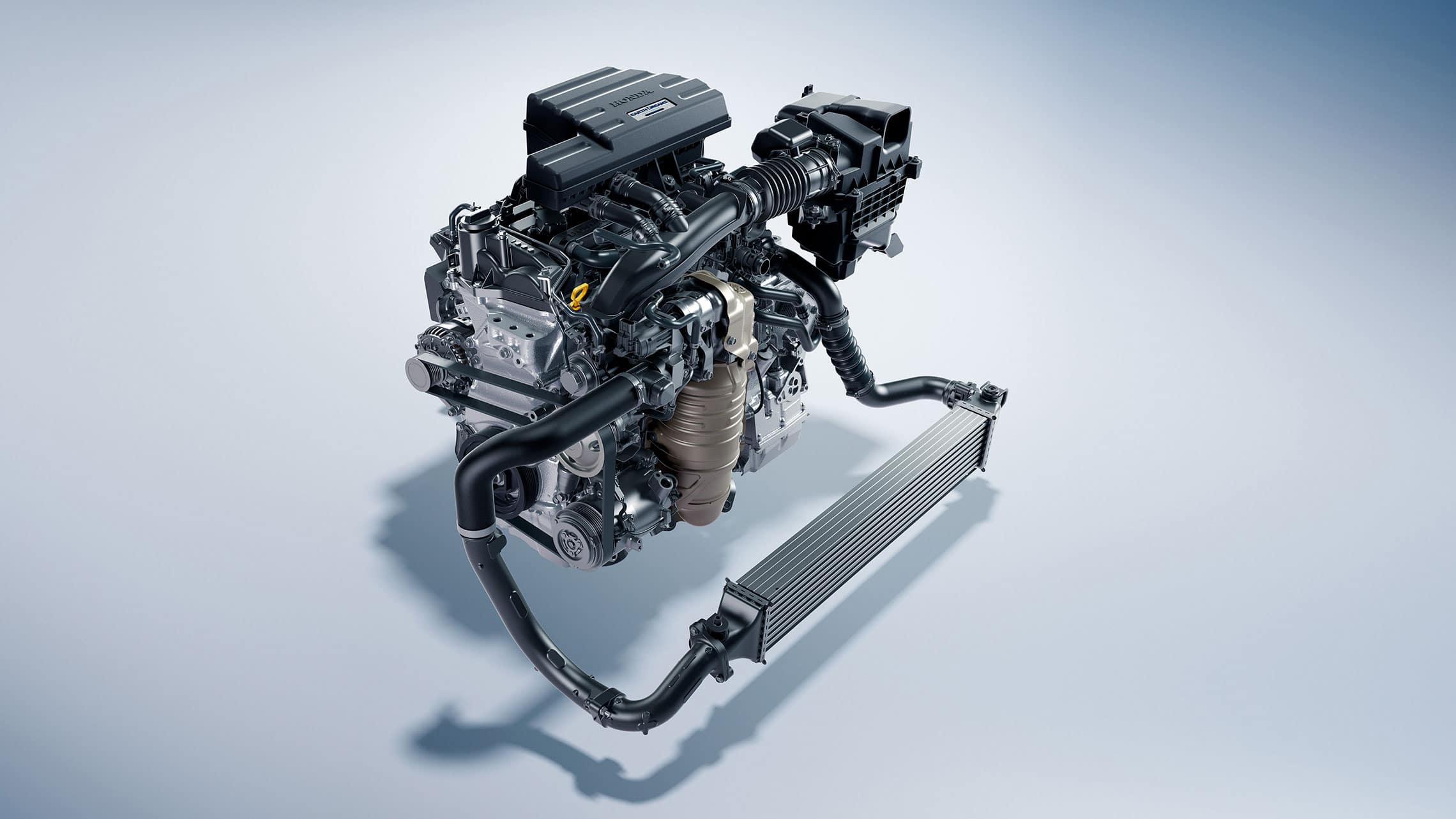 Detalle del motor turboalimentado de 1.5L en la Honda CR-V 2020