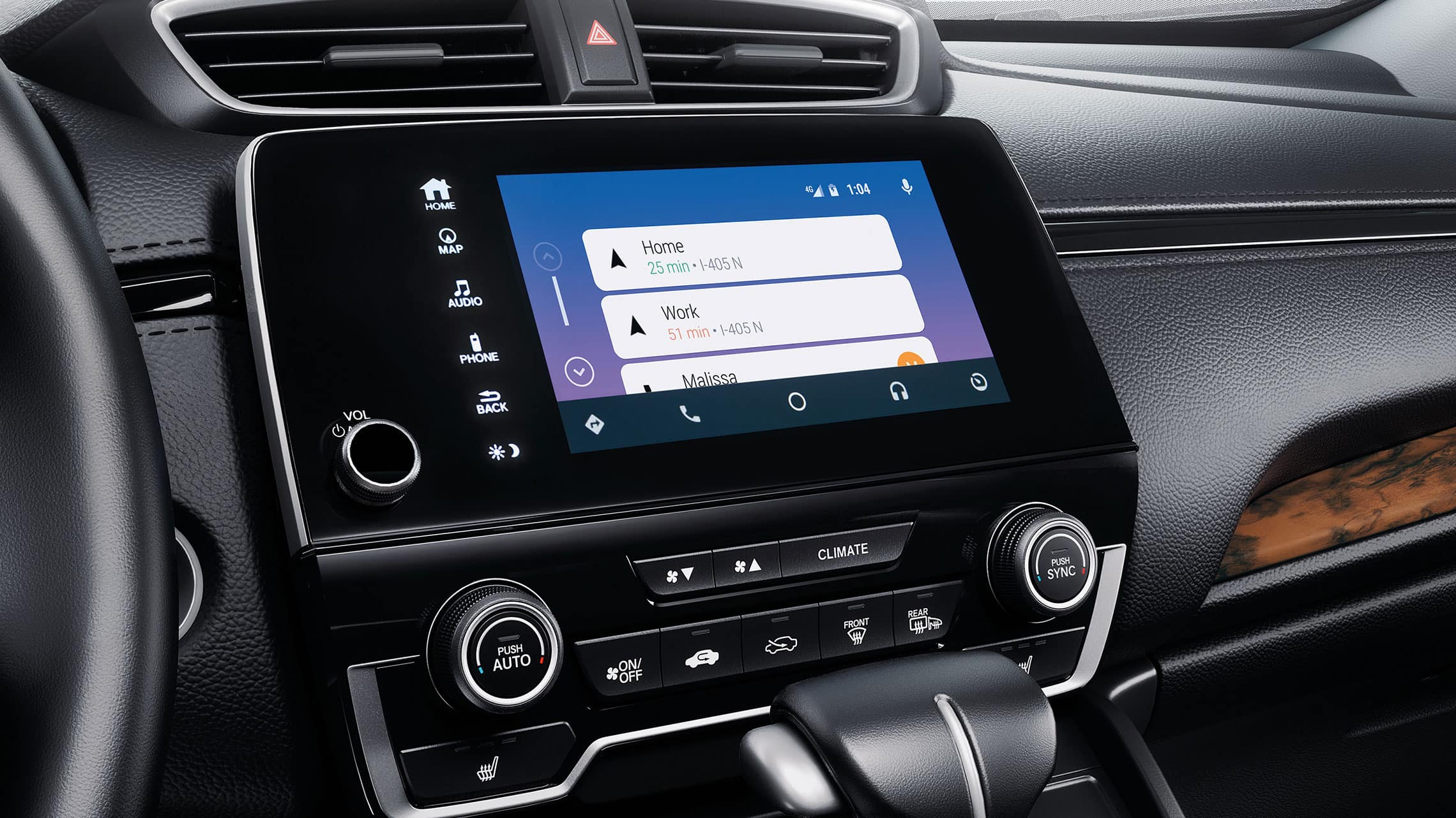 Android Auto™ integration menu detail on the Display Audio touch-screen in the 2021 Honda CR-V.